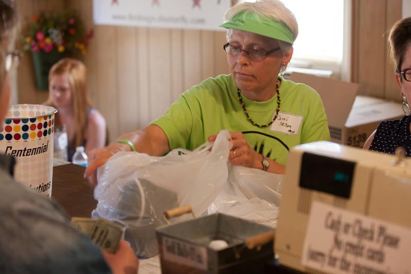 Carol at the Souvenir shop
