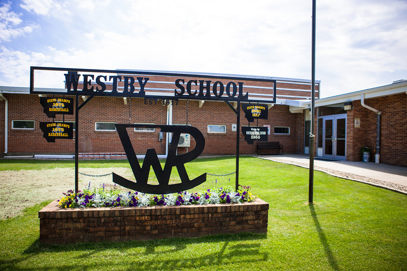 Westby School entrance