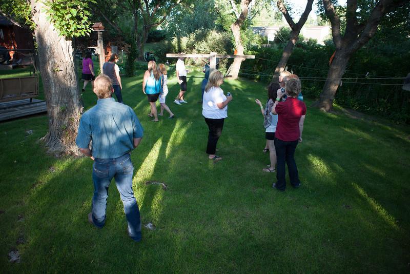 Cliff and Teresa's backyard reunion
