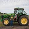 John Deere Tractor pulling the Band at Opening Ceremony