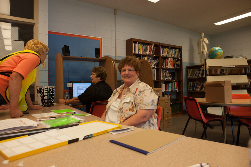 Sandy and Peggy at Westby Centennial Registration