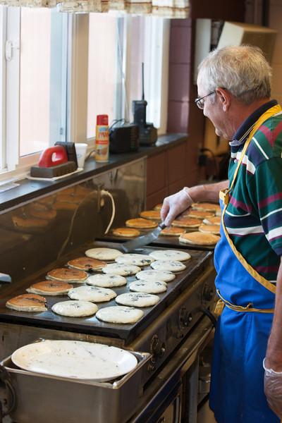 Flipping more Pancakes at the Pancake Breakfast