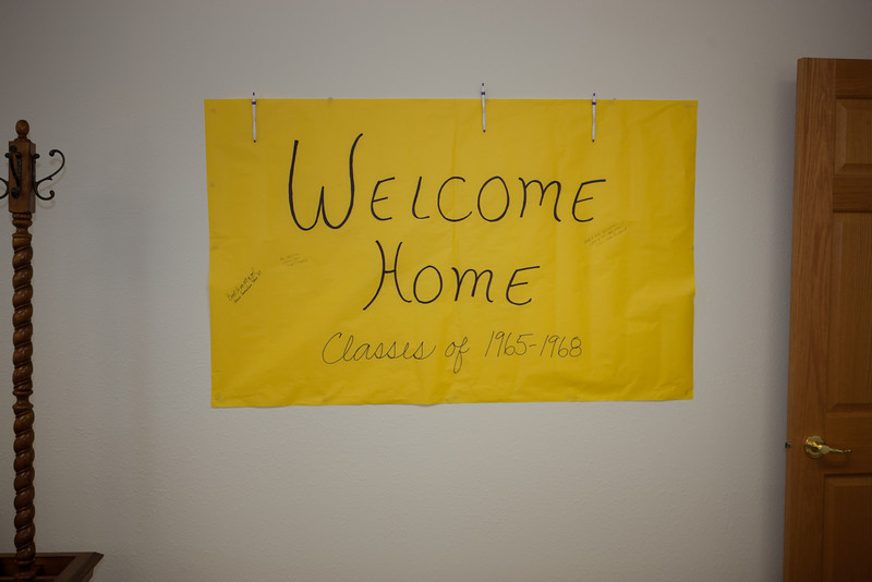 Welcome Home Class Reunion 1965-68 sign