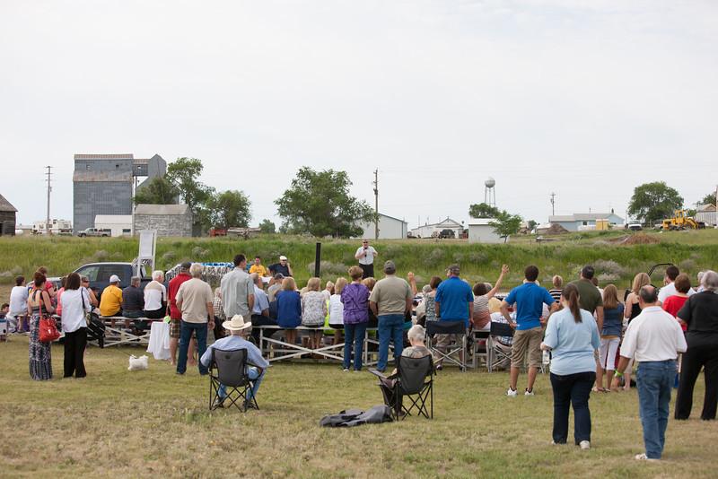 Spectators enjoying Opening Ceremony