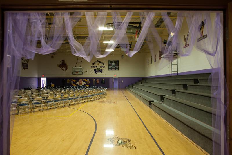 Westby School Gym Centennial set up