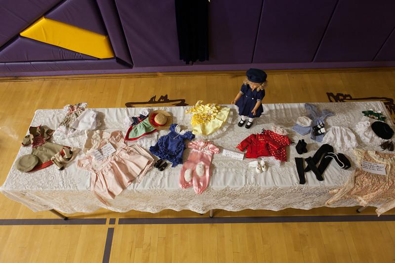 Vintage doll with wardrobe
