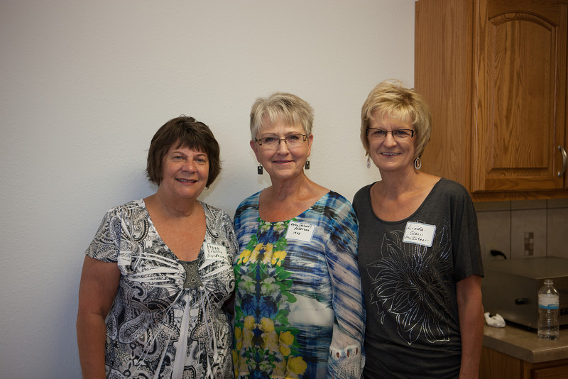 Peggy, Kathy, and Linda at the Reunion