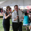 Val and Chuck collaborating at the wine tasting