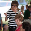 Ice cream hand outs at the wine tasting
