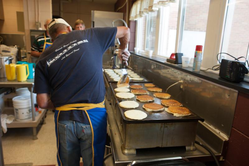 Flipping Pancakes at the Pancake Breakfast
