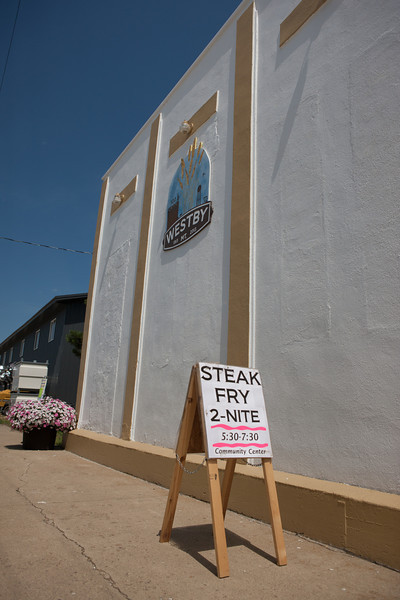 Westby Steak Fry Sign