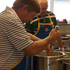 Mixing the batter at the Pancake Breakfast