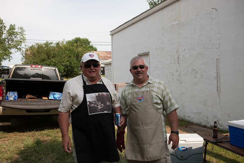 John and Mike grillin at the Steak Fry