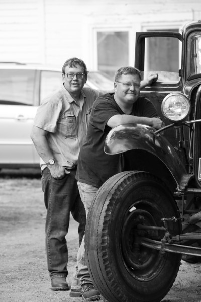 Loren and Dave tinkering on the Ford Classic