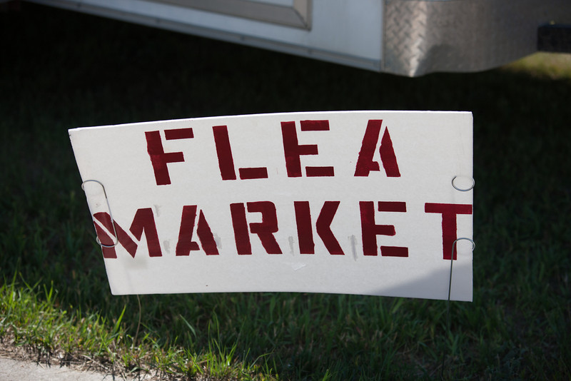Centennial Flea Market sign