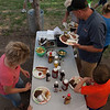 Andersen Family dishing up at the Steak Fry