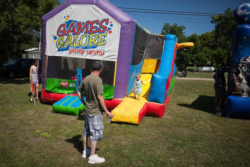 Westby Centennial Kids Games on Main St.