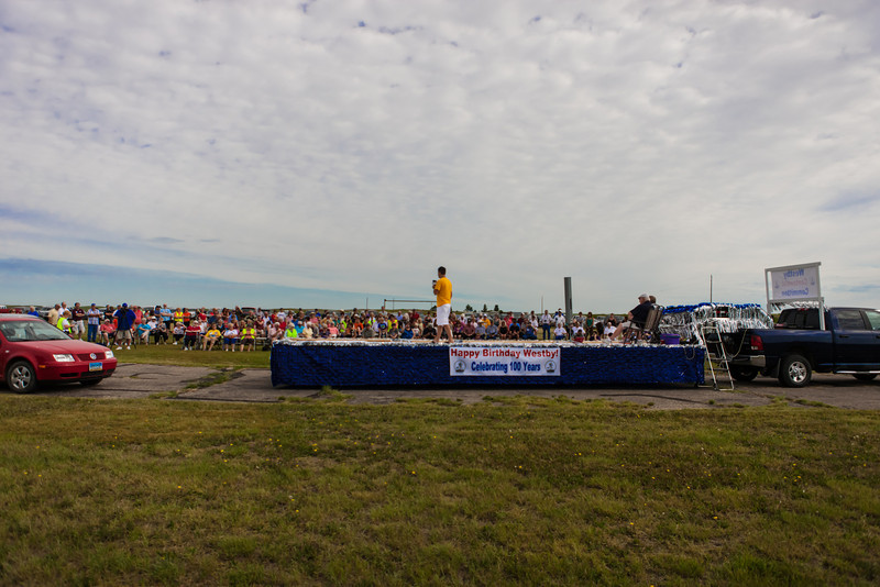 Opening Ceremony Westby Centennial wide angle