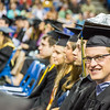 """Bachelor of Science degree graduate Patrick Terhune decorated his mortarboard with a geological structure during commencement May 8, 2016, at the Carlson Center. Terhune received a degree in geoscience: geology.  <div class=""""ss-paypal-button"""">Filename: GRA-16-4896-467.jpg</div><div class=""""ss-paypal-button-end""""></div>"""