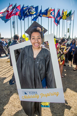 Ashleigh Strange celebrates her journalism degree in inspiring fashion.  Filename: GRA-13-3827-1261.jpg