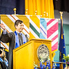 """Aaron Schutt, president and CEO of Doyon Limited, recognized all the mothers inside the Carlson Center before continuing his speech at the Commencement 2016 ceremony.  <div class=""""ss-paypal-button"""">Filename: GRA-16-4896-436.jpg</div><div class=""""ss-paypal-button-end""""></div>"""