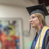 "2014 graduate Ashley Strauch addresses her classmates and audience in attendence during the honors commencement ceremony May 10 in Schaible Hall.  <div class=""ss-paypal-button"">Filename: GRA-14-4183-121.jpg</div><div class=""ss-paypal-button-end"" style=""""></div>"
