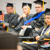 "Tegan White-Nesbitt listens to a speaker at the 2016 UAF Honors Program commencement ceremony inside Schaible Auditorium.  <div class=""ss-paypal-button"">Filename: GRA-16-4893-298.jpg</div><div class=""ss-paypal-button-end""></div>"