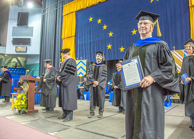 Longtime UAF supporter John Zarling was honored with a Meritorius Service Award.  Filename: GRA-13-3827-0942.jpg