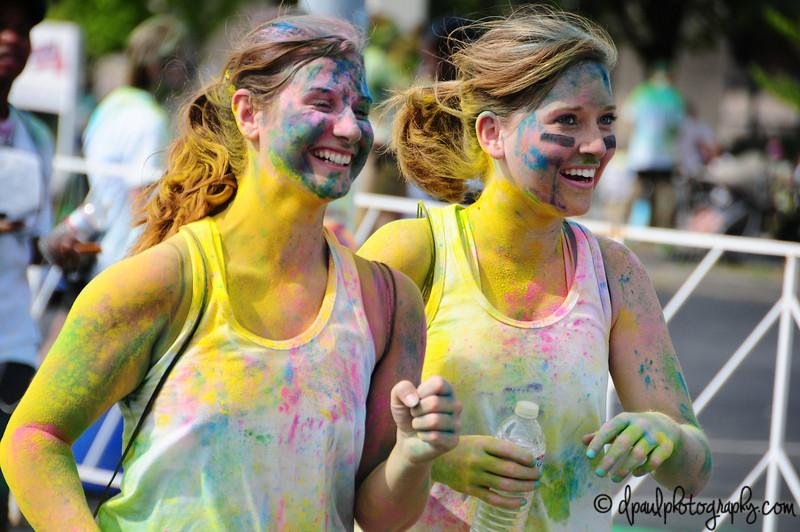 Happy Colored Face ;) Run Or Dye - Atlanta 2013 @ Turnerfield, Atlanta - Georgia - USA