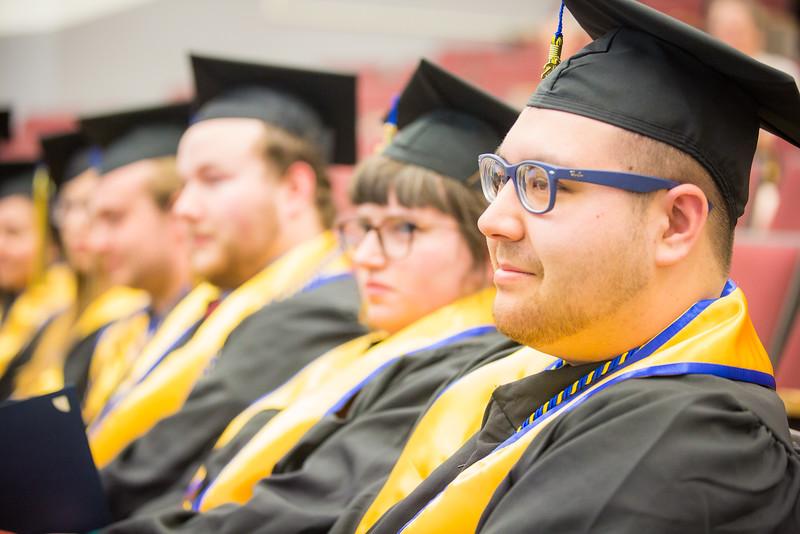 "2016 Honors Program graduates attend a separate commencement ceremony at Schaible Auditorium.  <div class=""ss-paypal-button"">Filename: GRA-16-4893-278.jpg</div><div class=""ss-paypal-button-end""></div>"