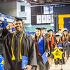 "Elijah Graham is all smiles during the recessional of the Commencement 2016 ceremony inside the Carlson Center.  <div class=""ss-paypal-button"">Filename: GRA-16-4896-1079.jpg</div><div class=""ss-paypal-button-end""></div>"