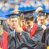 """Members of the graduating class of 2014 move their tassles from right to left during UAF's commencement ceremony May 11 in the Carlson Center.  <div class=""""ss-paypal-button"""">Filename: GRA-14-4186-1258.jpg</div><div class=""""ss-paypal-button-end"""" style=""""""""></div>"""