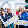 """Graduates surrounded by friends and family pose for a photo after the 2016 commencement ceremony outside the Carlson Center.  <div class=""""ss-paypal-button"""">Filename: GRA-16-4895-181.jpg</div><div class=""""ss-paypal-button-end""""></div>"""