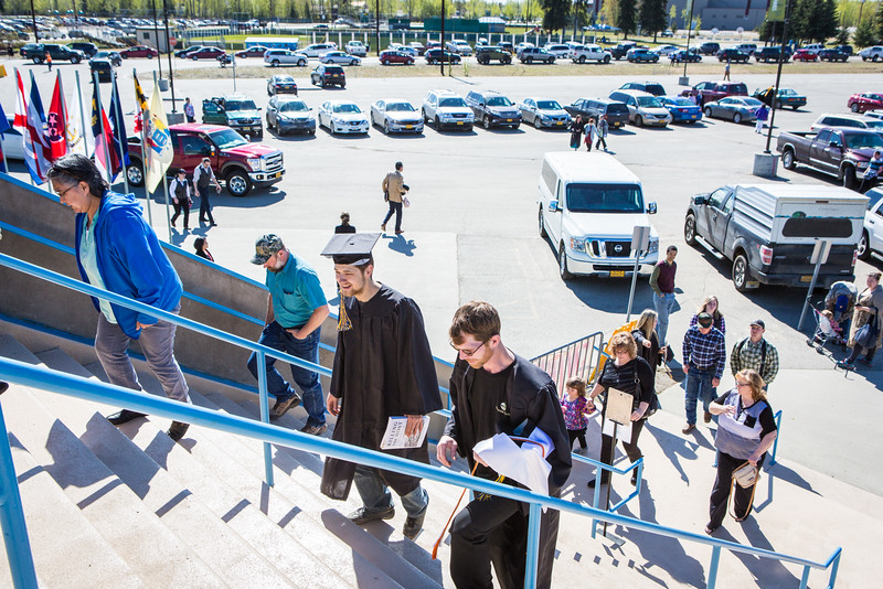 """Graduates, family members, friends and members of the public gather at the Carlson Center for the UAF commencement ceremony, Sunday, May 8, 2016.  <div class=""""ss-paypal-button"""">Filename: GRA-16-4896-40.jpg</div><div class=""""ss-paypal-button-end""""></div>"""