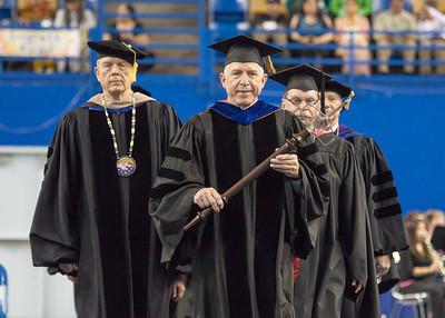 Retiring Professor of Chemistry John Keller was honored to serve as Grand Marshal for UAF's 2012 commencement ceremony in the Carlson Center.  Filename: GRA-12-3410-0122.jpg