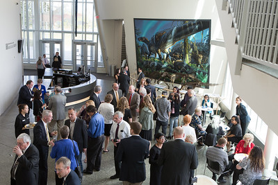Guests arrive at the UA Museum of the North for the 2016 Gold Banquet, an annual event for UAF honorary degree recipients and commencement special guests.  Filename: GRA-16-4894-88.jpg