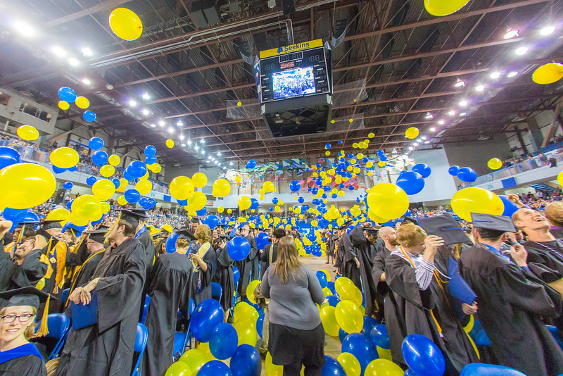 """A ceremonial balloon drop signals the end of UAF's commencement ceremony May 11 in the Carlson Center.  <div class=""""ss-paypal-button"""">Filename: GRA-14-4186-1273.jpg</div><div class=""""ss-paypal-button-end"""" style=""""""""></div>"""