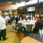 Chef Michael Roddy addresses guests attending the annual CTC culinary scholarship banquet in the Hutchison Institute of Technology.