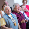 """The Down River Singers from several Athabascan villages throughout Alaska's Interior, performed at the annual Gold Dinner for special guests at UAF's 2013 commencement.  <div class=""""ss-paypal-button"""">Filename: GRA-13-3826-100.jpg</div><div class=""""ss-paypal-button-end"""" style=""""""""></div>"""