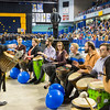 "The UAF Percussion Group, Ensemble 64.8, leads the recessional music at the Commencement 2016 ceremony inside the Carlson Center.  <div class=""ss-paypal-button"">Filename: GRA-16-4896-1076.jpg</div><div class=""ss-paypal-button-end""></div>"