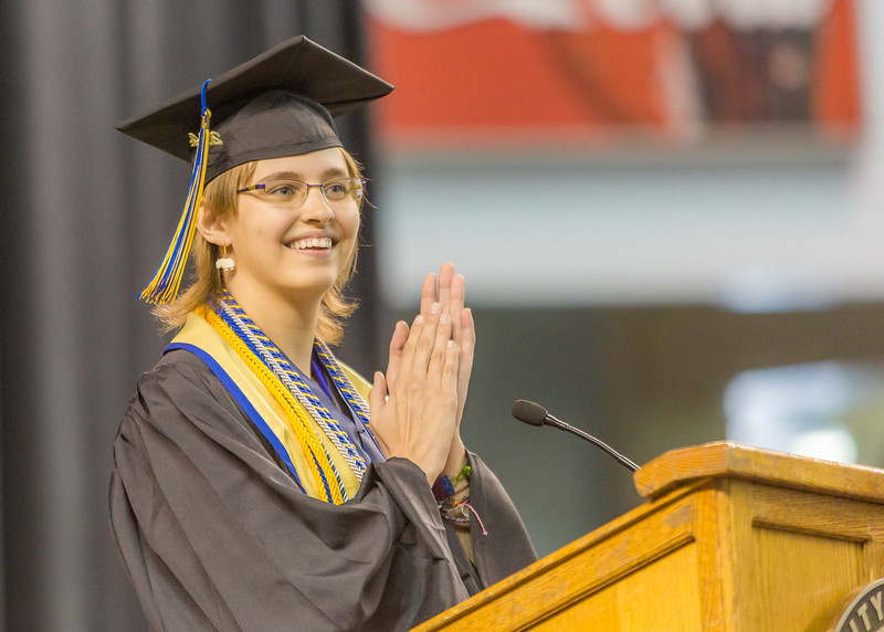 """Ashley Strauch was selected as the student speaker for the Class of 2014.  <div class=""""ss-paypal-button"""">Filename: GRA-14-4186-1057.jpg</div><div class=""""ss-paypal-button-end"""" style=""""""""></div>"""