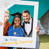 """Graduates surrounded by friends and family pose for a photo after the 2016 commencement ceremony outside the Carlson Center.  <div class=""""ss-paypal-button"""">Filename: GRA-16-4895-286.jpg</div><div class=""""ss-paypal-button-end""""></div>"""
