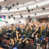 "Participants in UAF's 2016 Rural Alaska Honors Institute toss their caps after the conclusion of their graduation ceremony at the Schaible Auditorium.  <div class=""ss-paypal-button"">Filename: GRA-16-4932-157.jpg</div><div class=""ss-paypal-button-end""></div>"