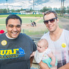 "UAF Alumni Association board member Mike Campbell poses with fellow alum and former Nanook Jordan Henry during the annual UAF Alumni Night with the Alaska Goldpanners at Growden Field on July 22.  <div class=""ss-paypal-button"">Filename: DEV-15-4583-27.jpg</div><div class=""ss-paypal-button-end""></div>"