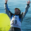 Steven Wright reacts to the news that he just broke the world record for Men's Freestyle Kayaking with a score of 2160 points.