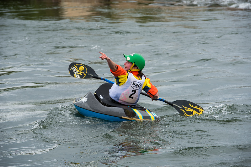 New Zealand women's kayak champ Courtney Kerin traveled here to compete.