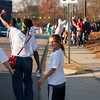 Smiles and hellos at the Garner Christmas Parade