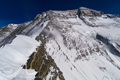 The sweeping North Face of Mount Everest, Tibet, taken from the North Col (Camp IV).