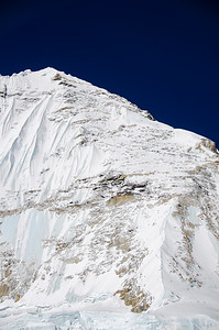 The North Ridge-Scott Route on Nuptse as viewed from 23,000 feet on the West Ridge Headwall of Everest. Zoom in close and you can see Gerlinde Kaltenbrunner and David Göttler descending from the summit after climbing the route on May 17, 2012. Amazingly, this photo was taken by me - alone with David Morton on the West Ridge Headwall - of two climbers alone on Nuptse, while across the valley 250+ climbers stood in a conga line making their way from Camp 3 to Camp 4 on the Lhotse Face of Everest. Different worlds. See https://jakenorton.com/wp-content/uploads/2021/04/31085_JN_24170-1.jpg for their location on the route.