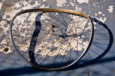 Bent Bicycle Wheel & Shadow, San Francisco, 2008